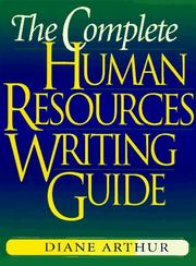 Cover of: The complete human resources writing guide