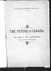 Cover of: The future of Canada