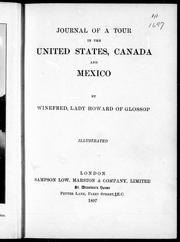 Cover of: Journal of a tour in the United States, Canada and Mexico |
