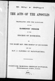 Cover of: The Acts of the Apostles | John Horden