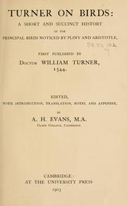 Cover of: Turner on birds by William Turner