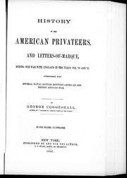 Cover of: History of the American privateers and letters-of-marque | George Coggeshall