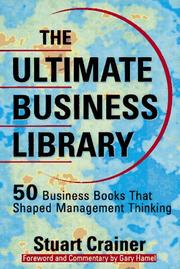 The ultimate business library by Stuart Crainer