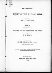 Cover of: A history of the discovery of Maine by by J.G. Kohl.