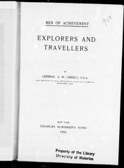 Cover of: Explorers and travellers |