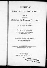 Cover of: A discourse on western planting