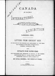 Cover of: Canada at the Great International Fisheries Exhibition, London, 1883 |