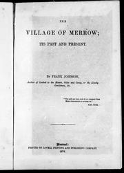 Cover of: The village of merrow | Frank Johnson