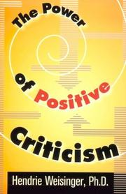 Cover of: The power of positive criticism