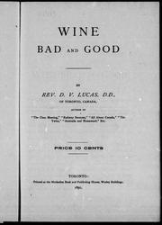 Cover of: Wine, bad and good