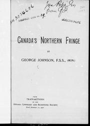 Cover of: Canada's northern fringe