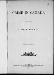 Cover of: Crime in Canada