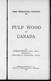 Cover of: Pulpwood of Canada