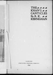 Cover of: The Khan's canticles