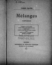 Cover of: Mélanges