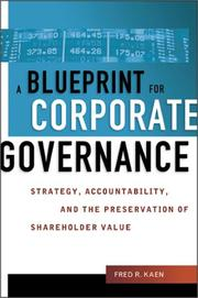 Cover of: Blueprint for Corporate Governance, A