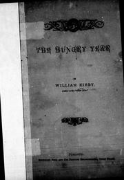 Cover of: The hungry year