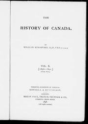Cover of: The history of Canada |