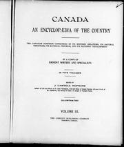 Cover of: Canada, an encyclopaedia of the country |