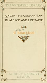 Cover of: Under the German ban in Alsace and Lorraine