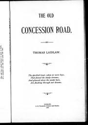 Cover of: The old concession road |