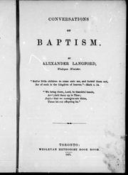 Conversations on baptism