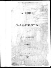 A sketch on Gaspesia by J. C. Langelier