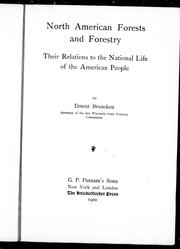 Cover of: North American forests and forestry |