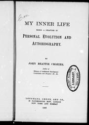 Cover of: My inner life |