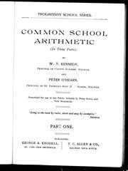 Cover of: Common school arithmetic |