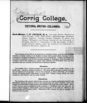 Cover of: Corrig College, Victoria, British Columbia |