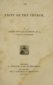 Cover of: The unity of the Church