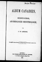 Album canadien by Le Moine, J. M. Sir