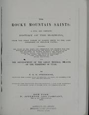 Cover of: The Rocky Mountain saints by T. B. H. Stenhouse