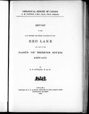 Cover of: Report of the country in the vicinity of Red Lake and part of the basin of Berens River, Keewatin |