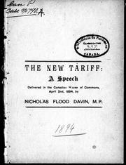 Cover of: The new tariff