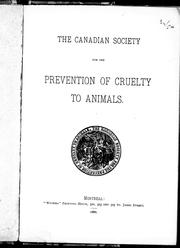 Cover of: The Canadian Society for the Prevention of Cruelty to Animals |