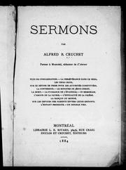 Cover of: Sermons | Alfred B. Cruchet