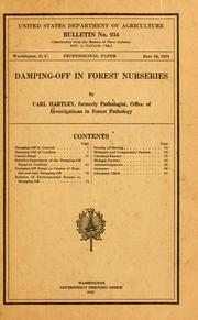 Cover of: Damping-off in forest nurseries