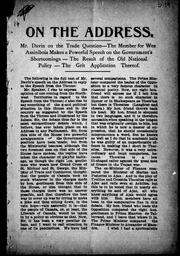 Cover of: On the address