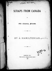 Cover of: Scraps from Canada to old country friends