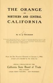 Cover of: The orange in northern and central California