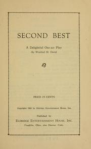 Cover of: Second best ... | Winifred M. David