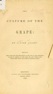 Cover of: The culture of the grape