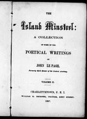 Cover of: The island minstrel |