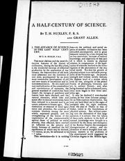 Cover of: A half-century of science