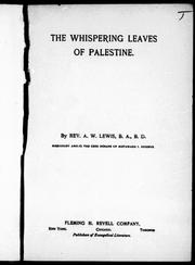 Cover of: The whispering leaves of Palestine