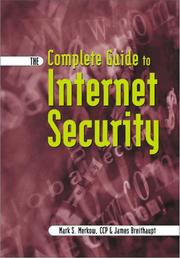 Cover of: The complete guide to Internet security