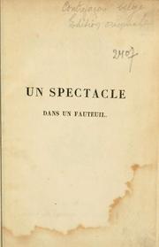 un spectacle dans un fauteuil 1833 edition open library