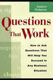 Questions that work by Andrew Finlayson